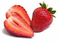 Aufgeschnittene Erdbeeren