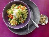 Indische Reis-Gemüse-Pfanne