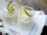 Joghurtcreme mit Limette