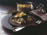 Kabeljau-Auflauf mit Spinat und Kartoffeln