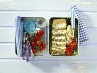 Käse-Frittata mit Spinat