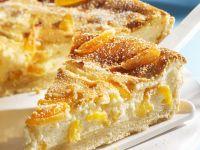 Käsekuchen mit getrockneten Aprikosen