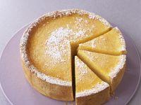 Käsekuchen mit Limette und Orange
