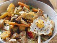 Kalbsfleisch-Kartoffel-Gröstl