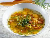 Karotten-Kürbis-Suppe mit Paprika