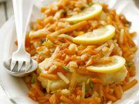 Karpfen mit Gemüse