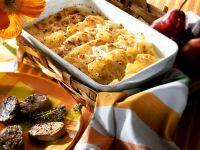 Kartoffel-Birnengratin