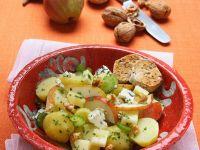 Kartoffel-Birnensalat mit Käse