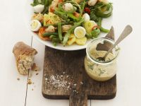 Kartoffel-Bohnen-Salat mit Ei und Rauke