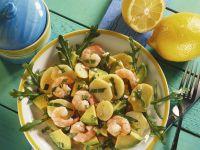 Kartoffel-Garnelen-Salat mit Rucola und Avocado
