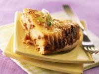 Kartoffel-Käse-Quiche mit Speck