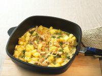 Kartoffel-Omelette mit Fleisch