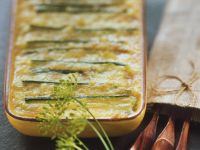 Kartoffel-Porree-Auflauf mit Reblochon
