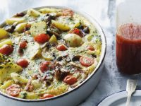 Kartoffel-Rindfleisch-Auflauf mit Gemüse