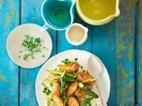 Kartoffel-Spargel-Pfanne mit Estragon