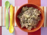 Kartoffelbrei mit Hähnchenleber