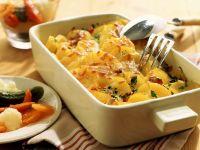 Kartoffelgratin mit Mixed Pickles