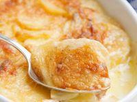 Kartoffelgratin mit Sahne (Gratin dauphinois)