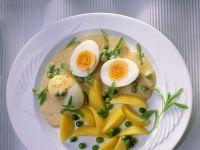 Kartoffeln mit Ei und Senfsauce