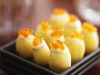 Kartoffeln mit Kaviarhaube