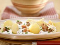 Kartoffeln mit Sahnematjes