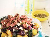 Kartoffelsalat mit Rindfleisch