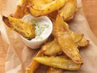 Kartoffelweges mit Käse überbacken