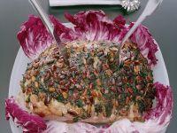 Kasslerbraten mit Pinienkernkruste