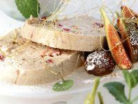 Kastanien-Parfait mit Feigen und glasierten Kastanien