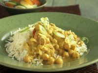 Kichererbsen-Curry mit Reis