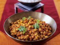 Kichererbsencurry auf indische Art