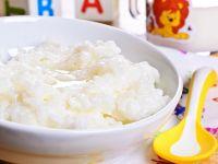 Mahlzeit mit Reis für Kleinkind