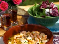 Knoblauch-Chili-Shrimps in Butter