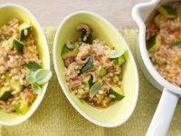 Krabben-Risotto mit Zucchini