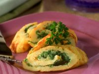 Kräuter-Omelettröllchen
