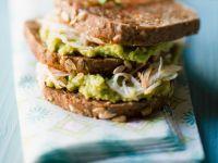 Krebsfleisch-Sandwich