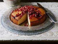 Kuchen mit Granatapfelkernen
