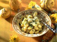 Kürbis-Käse-Gnocchi mit Kräutern