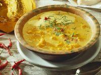 Kürbissuppe auf jamaikanische Art