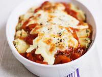 Lachs-Cannelloni mit Tomaten und Mozzarella