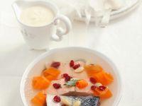Lachs in Aspik mit Möhren und Cranberries
