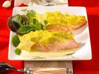 Lachs mit Kartoffelhaube