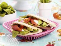 Lachs-Panini mit Avocado