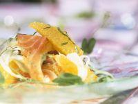 Lachs und Fenchelsalat mit Orangen