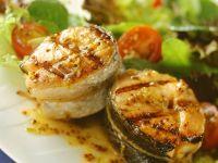 Lachs vom Grill mit Senfsauce