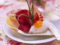 Lachsmousse mit Radicchiosalat