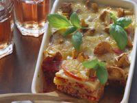 Lasagne mit Kartoffeln und Pfifferlingen