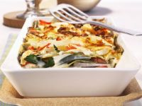 Lasagne mit Mangold und Kohl