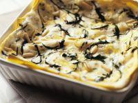Lasagne mit Rucola und Gorgonzola