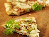 Lauch-Tortilla mit Speck